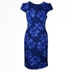 Betsey Johnson Scuba Knit Floral Dress